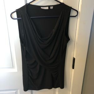 New York and Company Ruched Sleeveless Blouse